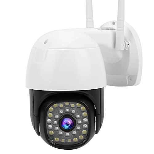Cámara de vigilancia WiFi Impermeable IP66, excelente Uso Night PTZ Intercomunicador de Voz bidireccional Detección de Movimiento Cámara de Seguridad infrarroja(UE 110-240 V)