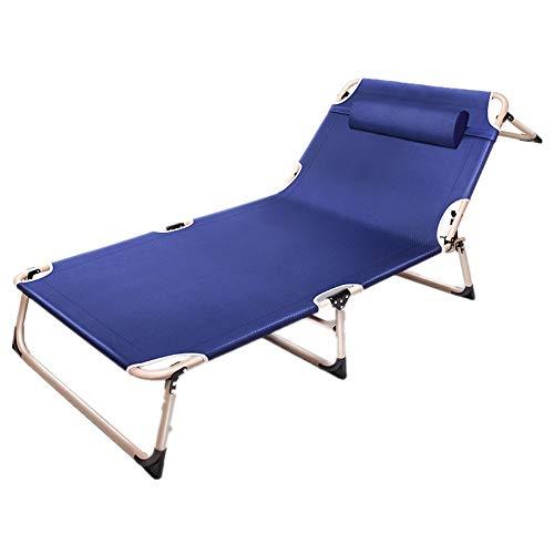 Wenzhihua Plegables ENVÍO Plegable de la Chaise una Cama reclinable Playa y la Piscina Tumbona for Patio Jardín Patio Jardín Tumbona Camping al Aire Libre (Color : Gray, Size : 194x68cm)
