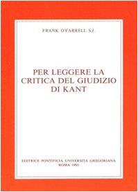 Per leggere la Critica del giudizio di Kant