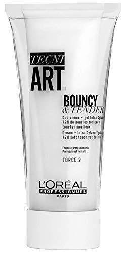 L'Oréal Professionnel Paris Tecni.ART Dual Stylers Bouncy and Tender, Locken-Creme, für definierte Locken-Stylings, 150ml