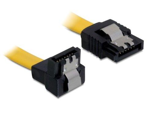 DeLock SATA 6 GB/S Kabel gerade auf unten gewinkelt 50 cm gelb