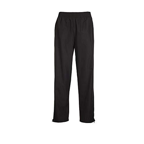 Killtec Regenhose Herren Sinno - Überziehhose mit Bein Weissverschluss - regenfeste Hose - 100% wasserdicht, Winddicht und atmugsaktiv, schwarz, L