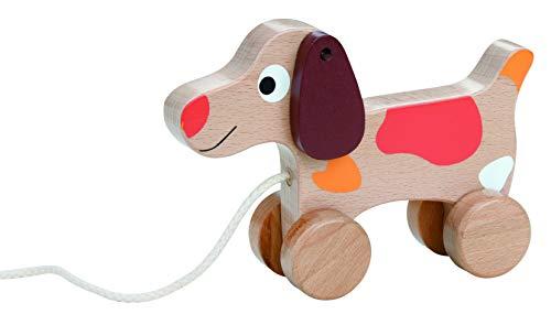 Lelin 19009 Holz - Nachziehtier Hund / Nachziehund