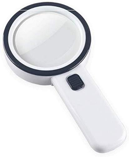 Wxxdlooa Handvergrootglas, optisch glas-objectief met LED en UV-lampen voor lezen, inspectie, lassen, handwerk, reparatie, hobby en knutselen