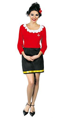 Guirca- Disfraz adulta mujer de marinero, Talla 42-44 (80530.0)