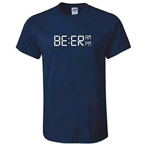 Mens Beer Oclock T shirt - Funny Dad Birthday Idea Joke Top