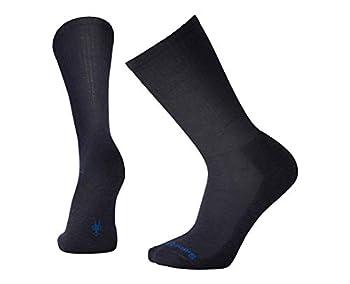 Smartwool Men s Heathered Rib Socks  Deep Navy Heather  Large