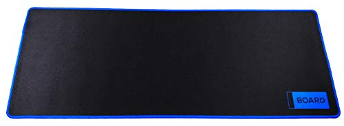 BOARD | Blue & Black Extended Gaming Mouse Pad/Mat XXL: Maximum Control and Speed, Anti-Fray Stitched Frame, Ultra Thick 4mm, Non-Slip Large Mousepad and Keyboard Mat 31.5'x11.8'x0.16'