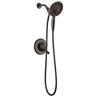 Delta Faucet Linden 17 Series Dual-Function Shower Faucet, Shower Trim Kit with 4-Spray In2ition 2-in-1 Dual Hand Held Shower Head with Hose, Venetian Bronze T17294-RB-I (Valve Not Included)