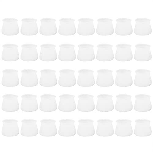 CUTULAMO Almohadilla para pies de Silla de Mesa, Cubierta de pies para Muebles Protectores de Patas de Mesa para pies de Silla Redondos y Cuadrados para Proteger baldosas de cerámica