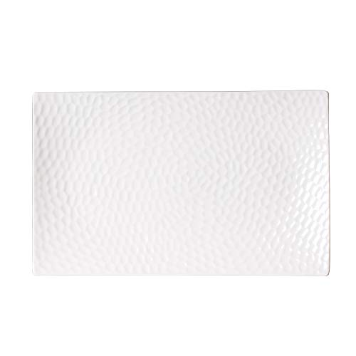Table Passion - plat rectangle porcelaine blanche 30x18cm