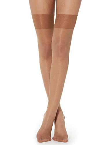 Calzedonia Damen Transparente halterlose Overknee-Strümpfe 20Denier