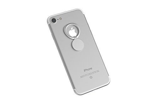 Kronya®   Portaobjetos Giratorio 360 ° para Smartphone   Sostenedor Aptitud Dedo Coche Celular Anillo Soporte teléfono móvil Apple iPhone iPad 7 8 10 X Samsung Galaxy S8 2 (Plata)