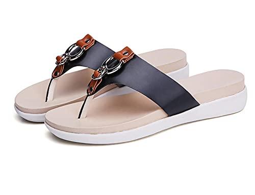 Slim Zehentrenner,Classic Unisex-Erwachsene Flip Flops,Mode Flip Flops, rutschfeste Hausschuhe-schwarz_36