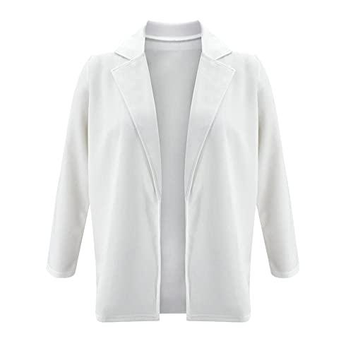 Chaqueta de oficina sólida chaqueta casual de señoras chaqueta suelta cuello