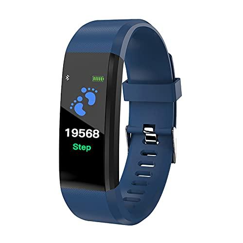 Lazwii Reloj inteligente de 0,96 pulgadas, IPS, color azul, para adultos, color azul