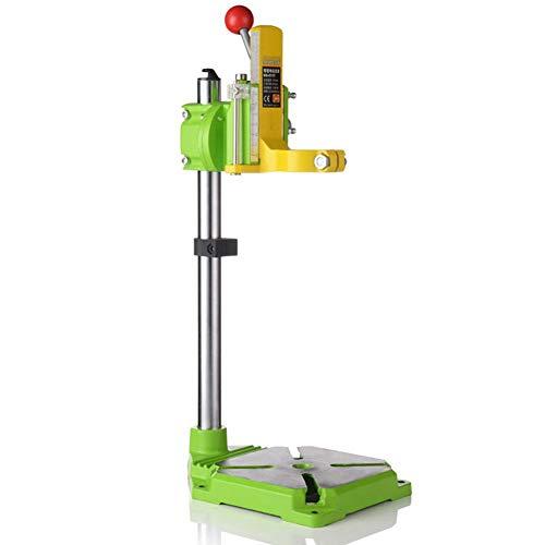 EC Tool 垂直ドリルスタンド 電動ドリルスタンド 高精度 スチール製 クランプ直径38-42mm 90°回転可能 最大ストローク60mm 省力 業務用 DIY
