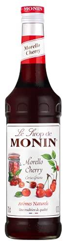 MONIN - Sirop de Cerise Griotte pour Cocktail, Vin, Limonade et Eau Plate - Arômes Naturels - 70cl