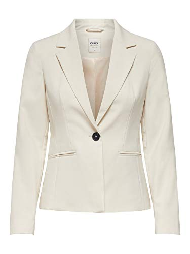 ONLY Damen Blazer Taillierter 36Whitecap Gray