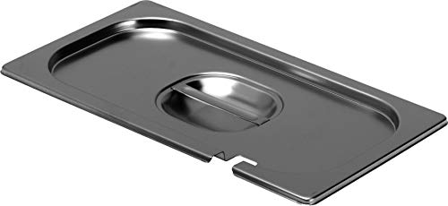 Deckel mit Einkerbung, für Gastro-Becken, Edelstahl
