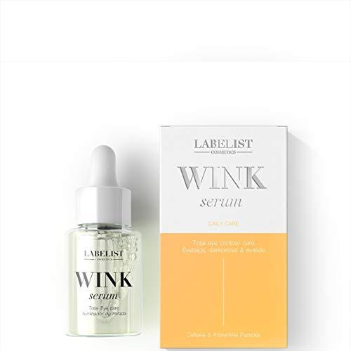 Labelist | Serum para Contorno de Ojos Wink Serum| 30 ml | Todo Tipo de Pieles | Anti arrugas | Combate Bolsas y Ojeras | Unifica el tono | Cuidado Facial de Mujer