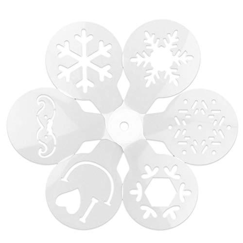 GOODFEER - Plantillas para decoración de Tartas, 6 Unidades, diseño navideño, Plantillas de café para...