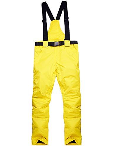 Smiela Herren Damen Winter Funktionshose Skihose Lang Schneehose Wasserdicht Winddicht Snowboardhose Sport Hose mit Abnehmbaren Hosenträgern