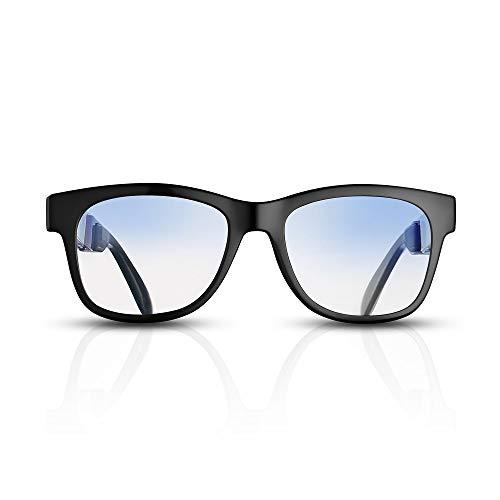 Gafas de Sol de conducción ósea VocalSkull Alien5, Auricular Bluetooth, Marco Negro (Anti-luz Azul).
