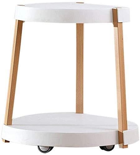 Nest Of Tables Mesa de centro blanca Mesas auxiliares Mesa para laptop Lapdesks Sofá lateral Sala de estar doble Dormitorio Redondo Blanco extraíble Café con ruedas Té para todas las estaciones de tr