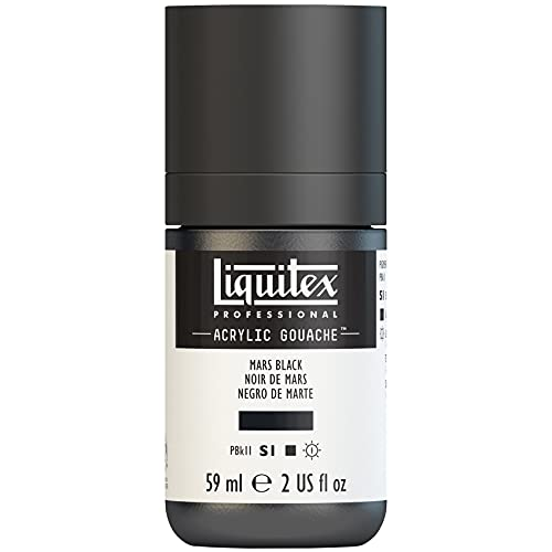 Liquitex Professional Gouache acrílico extrafino viscocidad Baja, Tubo 59 ml, Negro marte