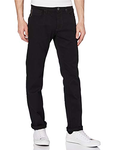 Camel Active Herren Straight Jeans, Schwarz (Forever Black 9), 36W / 34L