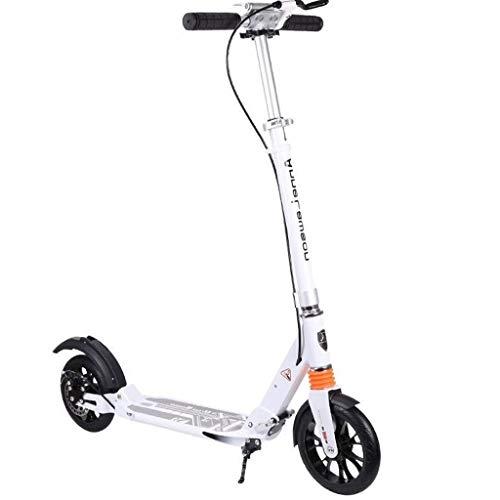 Scooter de pie Con Hombro adolescente correa de freno de mano no eléctricos plegado fácil Saave espacio Fácil portátil plegable de carbono Diseño de freno suave y rápido paseo ruedas grandes Scooter d