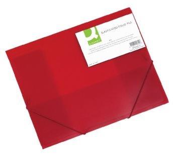 Gummizugmappe A4 transluz rot CONNECT KF02311 Material Polypropylen transluzent rot mi t ca. 3cm Rückenbreite, für Format A4, G