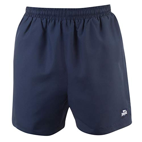Lonsdale Herren 2 Streifen Gewebte Shorts Marineblau/Weiß M