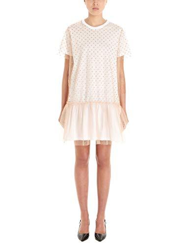Valentino Luxury Fashion | Red Damen TR3MJ03I4YBA77 Beige Baumwolle Kleid | Frühling Sommer 20