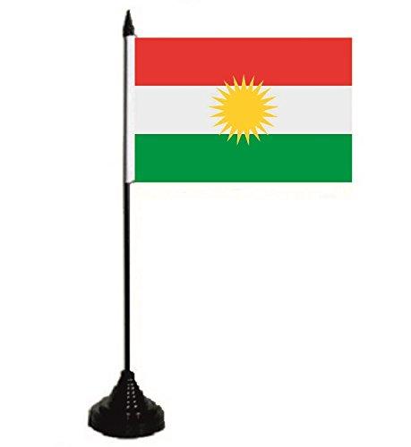 U24 Drapeau de table Kurdistan - 10 x 15 cm