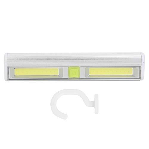 Luz de gabinete, luces LED de cocina Lámpara de pared COB Night Light con tira magnética y gancho, luz de armario para gabinete/armario/armario/debajo de escaleras/cajón, batería 3xAAA (no incluida)