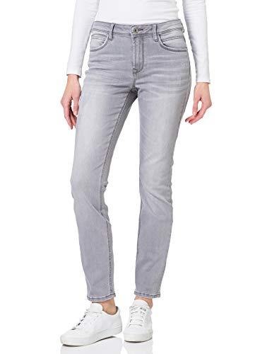 TOM TAILOR Damen Alexa Slim Jeans, Grau (10210 - Grey Denim), Gr. 32W / 30L