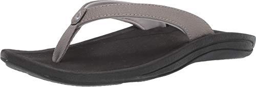OLUKAI Women's Kulapa Kai Sandals, Fog/Black, 9 M US