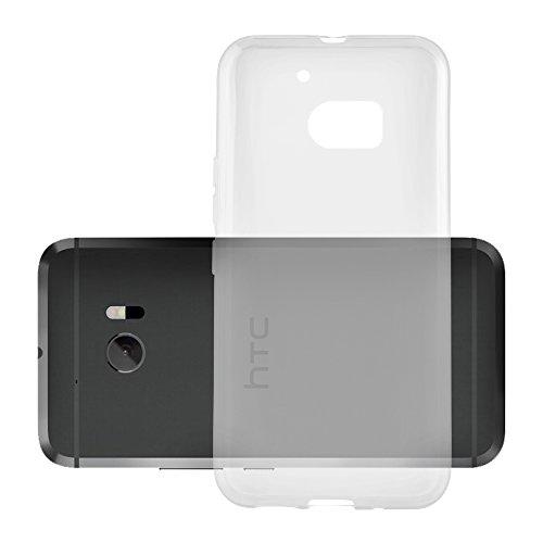Cadorabo Hülle für HTC 10 (One M10) in VOLL TRANSPARENT - Handyhülle aus flexiblem TPU Silikon - Silikonhülle Schutzhülle Ultra Slim Soft Back Cover Hülle Bumper