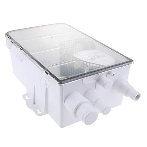 QIUXIANG-EU Boot Marine automatische Duschwanne Pumpensystem 600 GPH 12V Standard Box