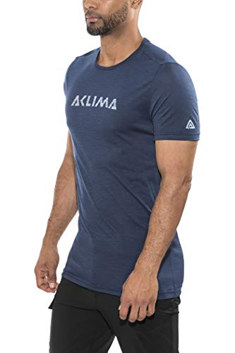 Aclima Lightwool Logo T-Shirt Homme, Insignia Blue Modèle 2XL 2019 T-Shirt Manches Courtes