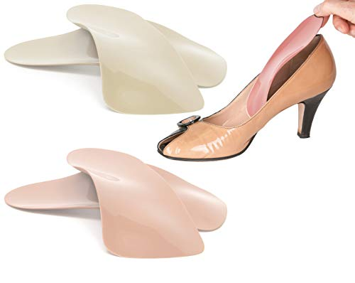 Travel Feet Balance Lady Foot Arch Supports for High Heels-Orthotic Insoles-Shoe Inserts for Women (3W9) Peach