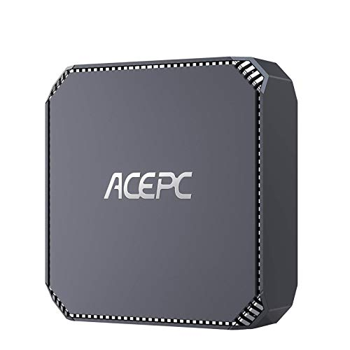 ACEPC Mini PC,Intel Celeron J3455 Window 10 Pro Tragbarer Mini computadora, 4GB DDR3 + 64GB eMMC, Gráficos 4K HD/Gigabit Ethernet/WiFi de Doble Banda/Bluetooth 4.2…
