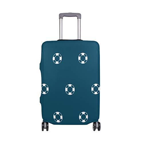 Gepäck mit Schwimmring-Muster, Schutz, Spandex, Reisekoffer, Gepäckabdeckung für Erwachsene, Damen, Herren, Teenager, passend für 45,7–50,8 cm