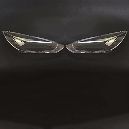 Cubierta de Faro Delantero de Coche Carcasa de Faro Transparente de Coche para Ford Focus 2015-2017 Cubiertas de Faros Cubierta de Lente Transparente