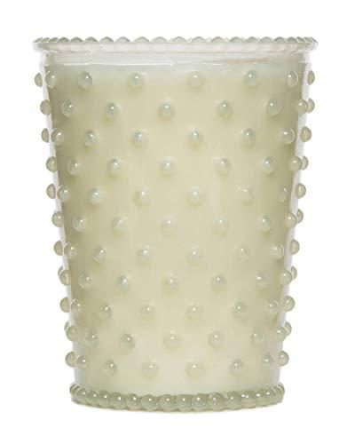 Simpatico Hobnail Candle, White Flower