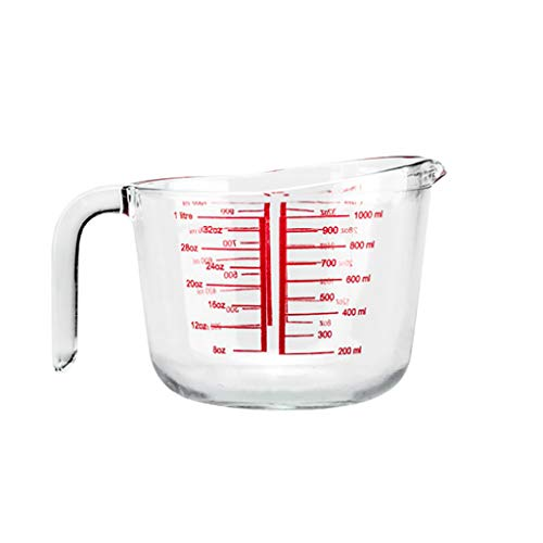 pyrex massive capability Glass mixing bowl/Measuring Cup,Nested stackable with tilting and non-slip handles-Including 0.25, 0.5, 1L