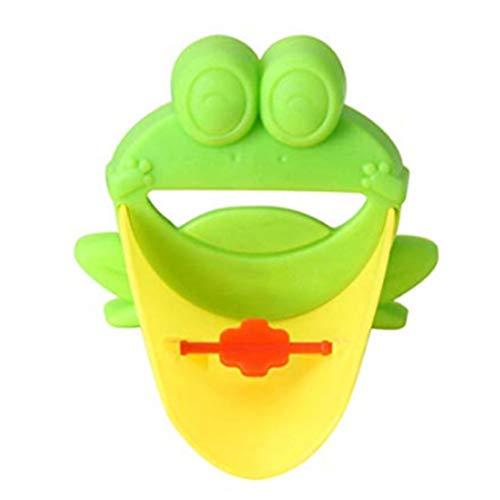 Wasserhahn-Verlängerung in Froschform mit Umstellgriff für Waschbecken, Verlängerung, Cartoon-Design, für Babys und Kleinkinder