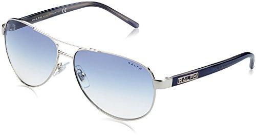 Ralph Lauren Purple Label Damen RA4004 Sonnenbrille, Silber (Light Silver 102/19), One size (Herstellergröße: 59)